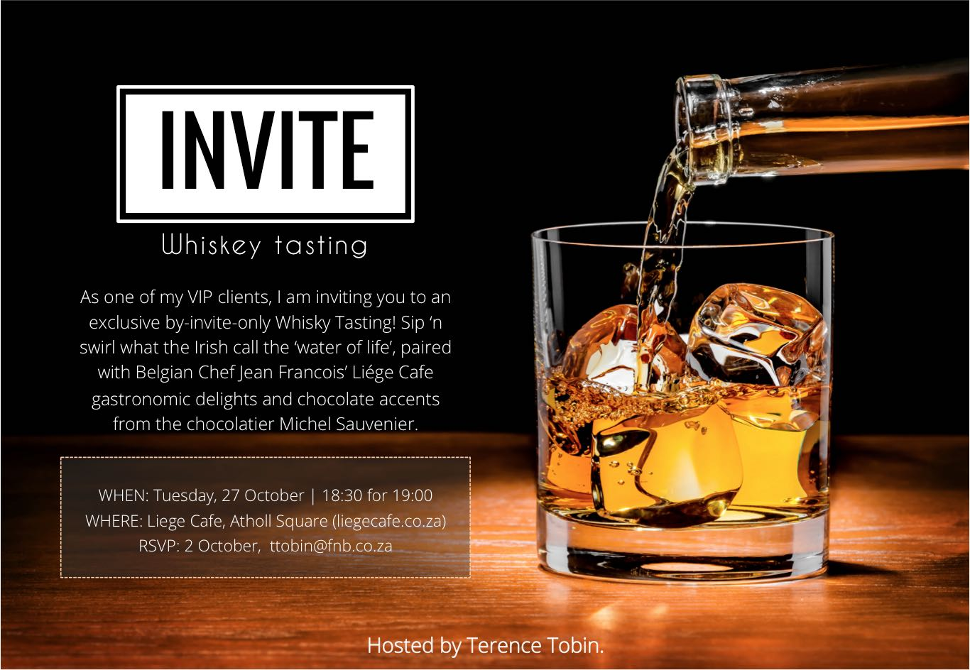 Whiskey Tasting Invite 2 Rainer Boshoff